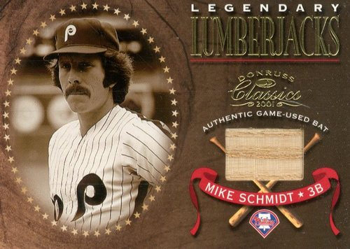 Photo of 2001 Donruss Classics Legendary Lumberjacks #LL26 Mike Schmidt