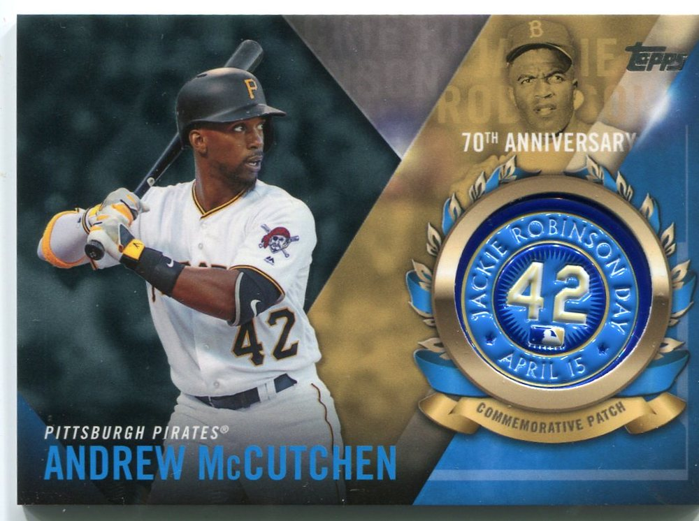2017 Topps Jackie Robinson Logo Patches #JRPCAM Andrew McCutchen