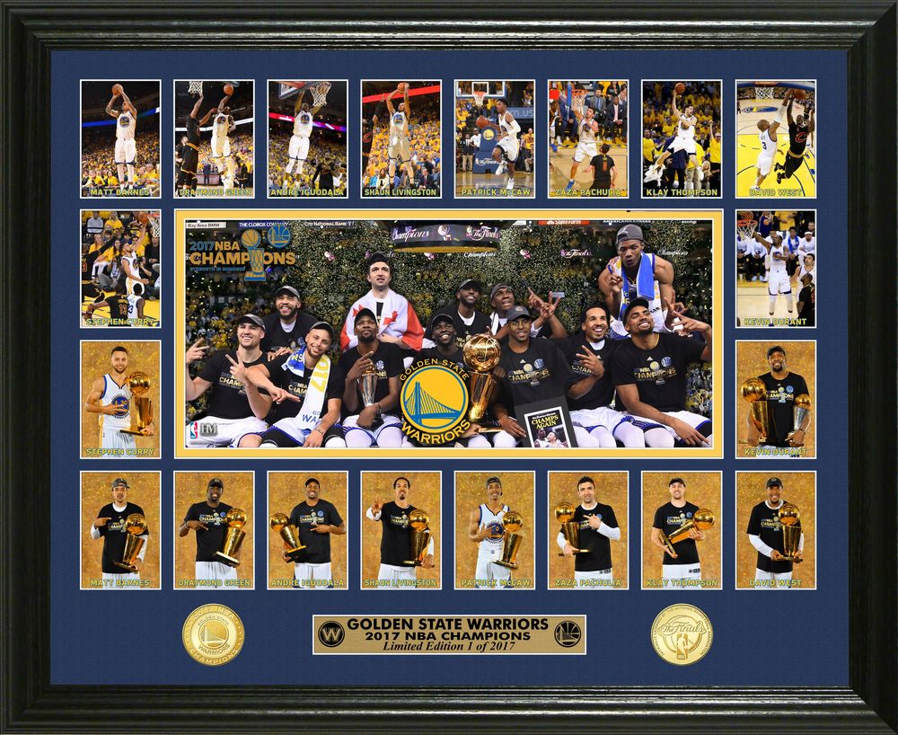 Serial #1! Golden State Warriors 2017 NBA Champions Memorable Moment Bronze Coin Photo Mint