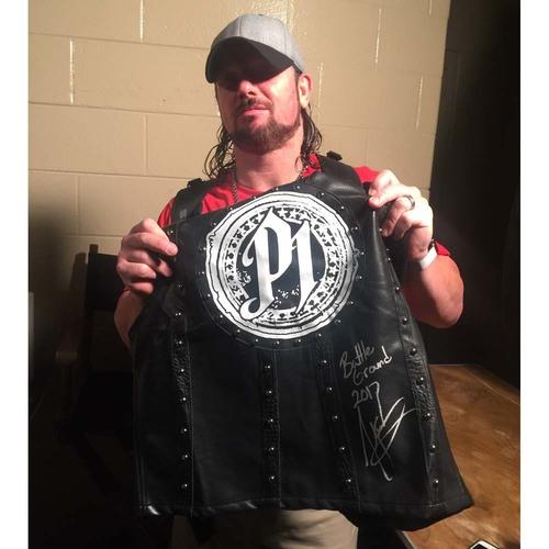 Photo of AJ Styles WORN & SIGNED Authentic Vest (Battleground - 07/23/17)