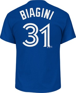 Toronto Blue Jays Joe Biagini Player T-Shirt Royal by Majestic