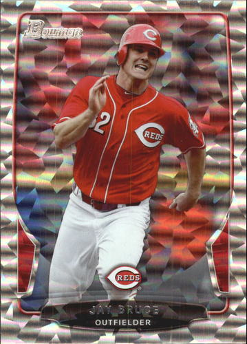 Photo of 2013 Bowman Silver Ice #198 Jay Bruce -- Indians post-season
