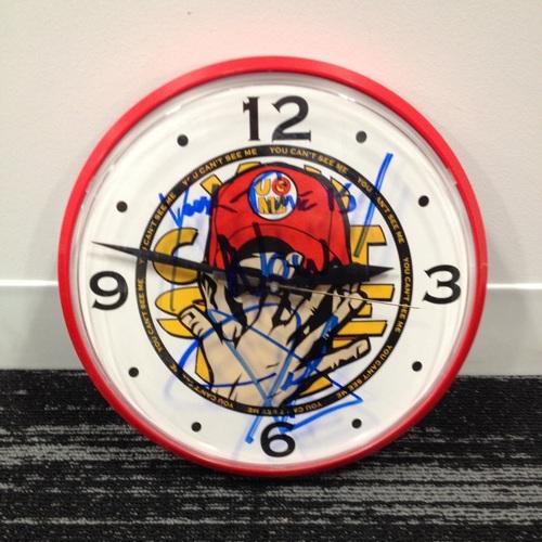 Photo of John Cena SIGNED Wall Clock