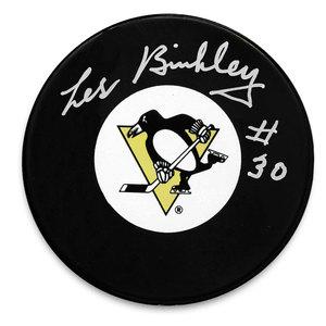 Les Binkley Pittsburgh Penguins Autographed Puck