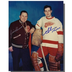 Jimmy Skinner (deceased) Glenn Hall Autographed Detroit Red Wings 8x10 Photo