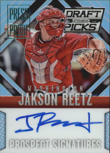 Photo of 2014 Panini Prizm Perennial Draft Picks Prospect Signatures Prizms Press Proof #77 Jakson Reetz