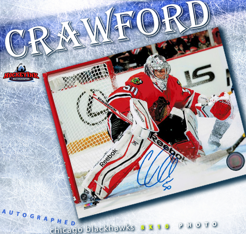 COREY CRAWFORD Signed Chicago Blackhawks 8 X 10 Photo - 70282