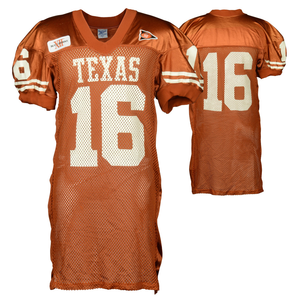 Texas Longhorns Game Used #16 Orange Jersey