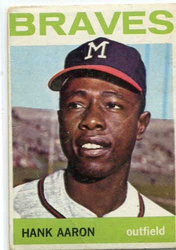 Photo of 1964 Topps #300 Hank Aaron -- Braves Hall of Famer