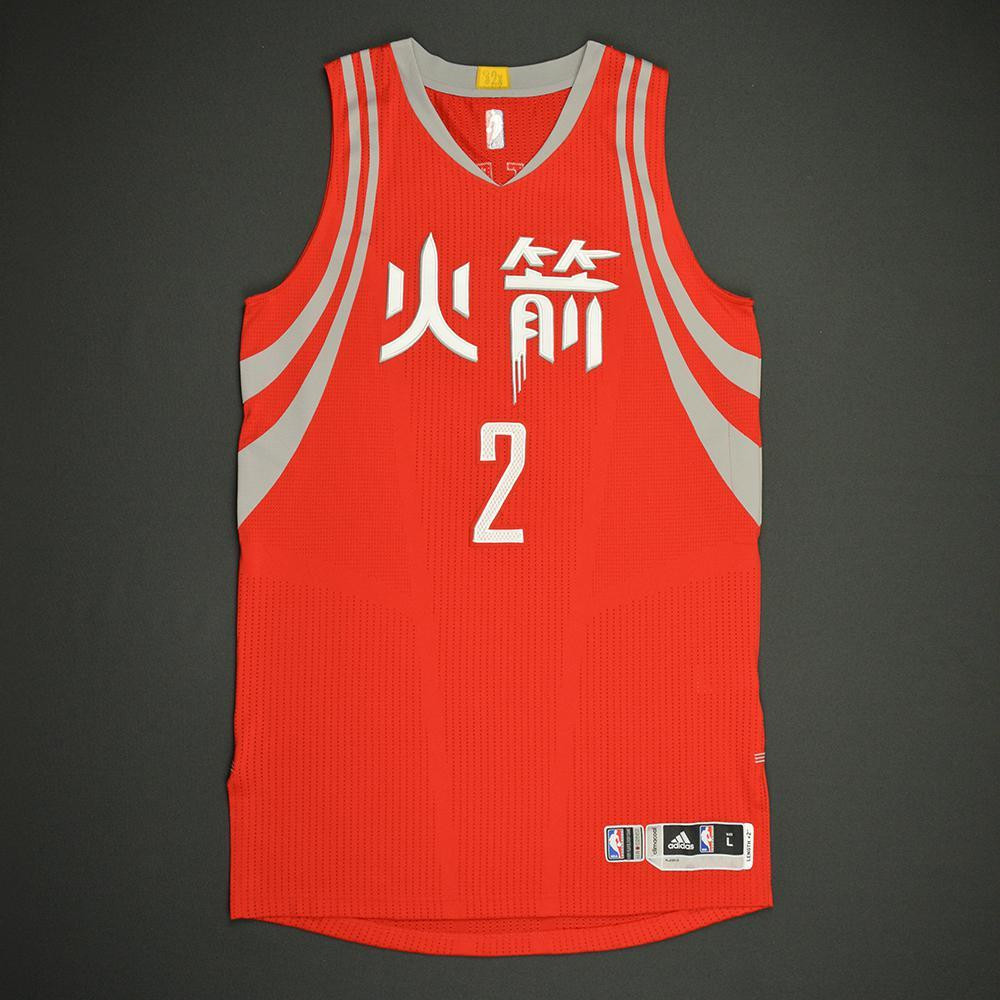 Patrick Beverley - Houston Rockets - Game-Worn Red Chinese New Year Jersey - 2016-17 Season