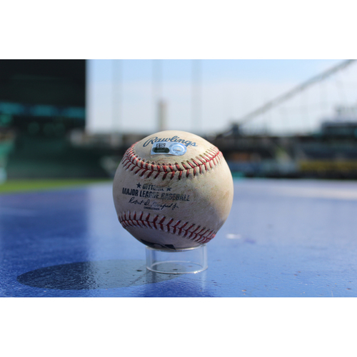 Photo of Game-Used Baseball: Tim Anderson 81st Career RBI , 246th Career Hit (CWS at KC - 9/12/17)