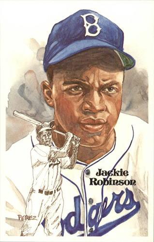 Photo of 1980-02 Perez-Steele Hall of Fame Postcards #89 Jackie Robinson -- Set #08689