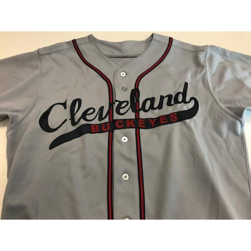 Photo of Game-Used Shawn Armstrong Cleveland Buckeyes Jersey