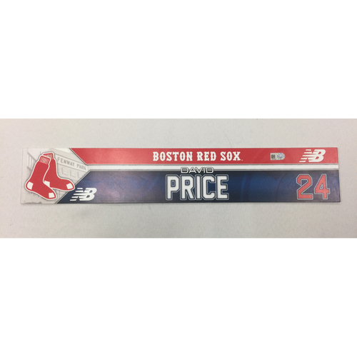 David Price May 20, 2016 Game-Used Locker Tag