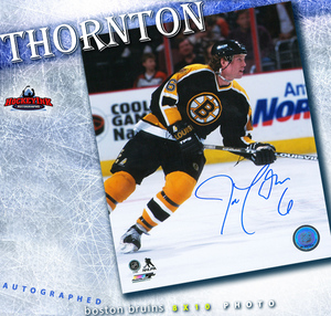 JOE THORNTON Signed Boston Bruins Rookie Year 8 X 10 Photo - 70388
