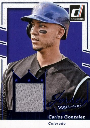 Photo of 2016 Donruss Jersey Kings #29 Carlos Gonzalez