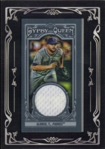 Photo of 2013 Topps Gypsy Queen Framed Mini Relics #YA Yonder Alonso