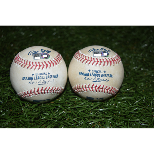 Photo of Game-Used Baseballs: Tampa Bay Rays vs Boston Red Sox - June 28, 2016