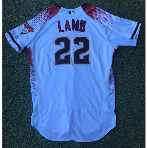 Photo of Jake Lamb Game-Used 2017 Commemorative Opening Day Jersey