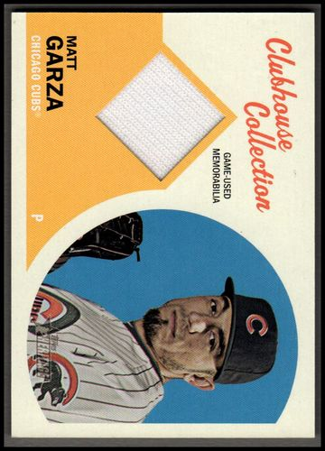 Photo of 2012 Topps Heritage Clubhouse Collection Relics #MG Matt Garza CUBS Jersey