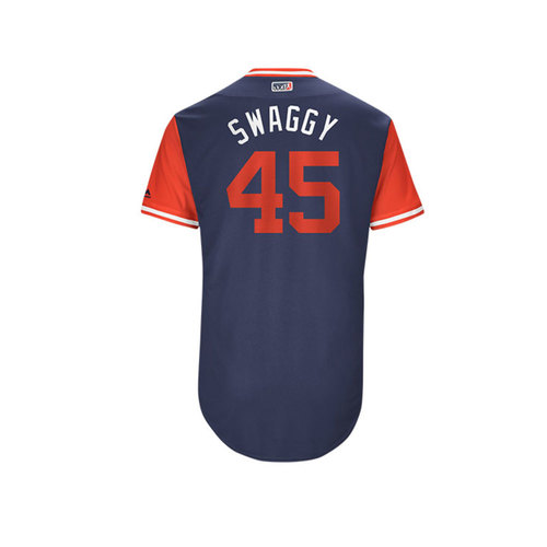 "Photo of Tyler ""Swaggy"" Skaggs Los Angeles Angels Game-Used Players Weekend Jersey"