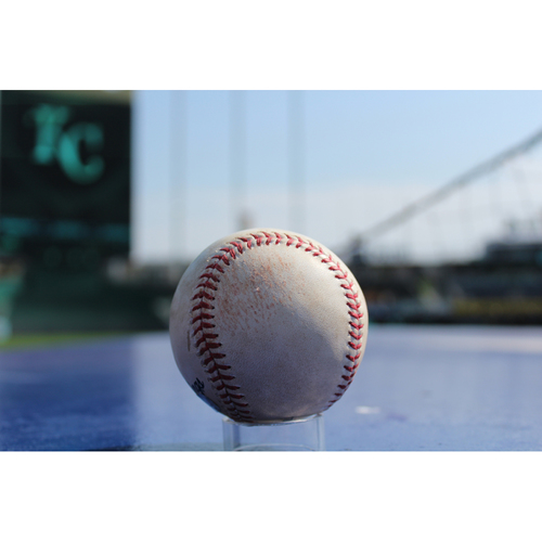Photo of Game-Used Baseball: Yolmer Sanchez 109th Career RBI, 54th Career Double, 260th Career Hit (CWS at KC - 9/12/17)