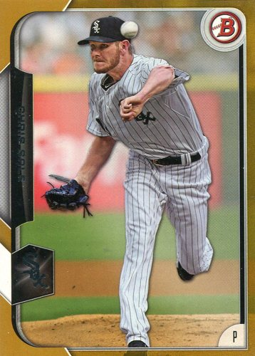 Photo of 2015 Bowman Gold #39 Chris Sale 45/50 -- Red Sox post-season