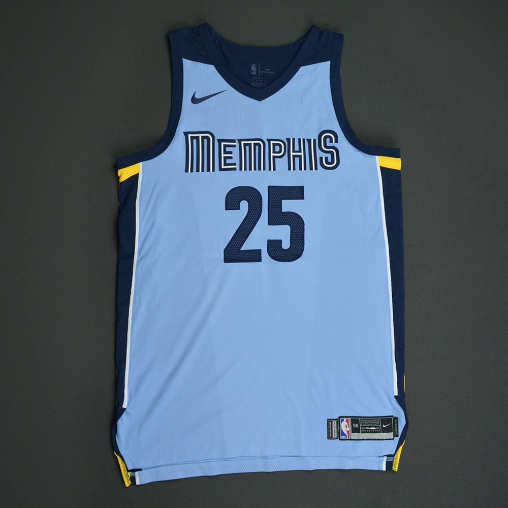 Chandler Parsons - Memphis Grizzlies - Statement Game-Worn Jersey  - 2017-18 Season