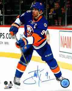 John Tavares - Signed 8x10 New York Islanders Blue Action