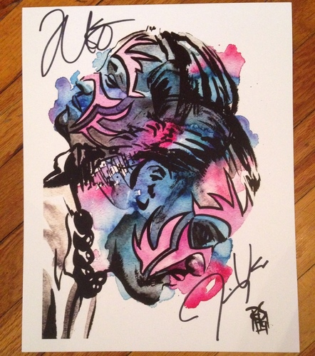 """Photo of The Usos SIGNED 11"""" x 14"""" Rob Schamberger Print"""