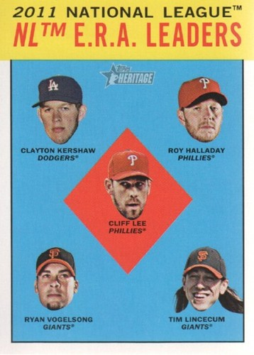 Photo of 2012 Topps Heritage #5 Clayton Kershaw/Roy Halladay/Cliff Lee/Ryan Vogelsong/Tim Lincecum LL