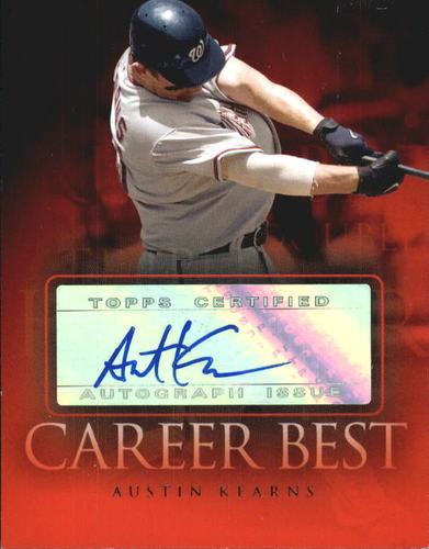 Photo of 2009 Topps Career Best Autographs #AK Austin Kearns B2