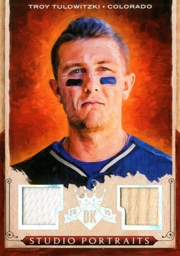 Photo of 2015 Diamond Kings Studio Portraits Materials Silver #25 Troy Tulowitzki/99
