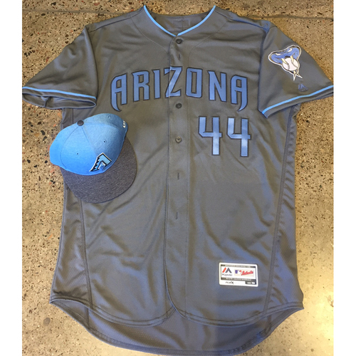 Photo of Randall Delgado - Game-Used Father's Day Jersey and Cap