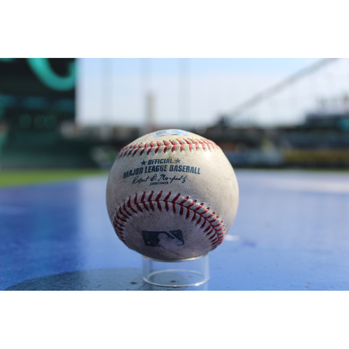Photo of Game-Used Baseball: Yolmer Sanchez 258th Career Hit, Yoan Moncada 14th Career RBI, 2nd Career Triple, 27th Career Hit (CWS at KC - 9/11/17)