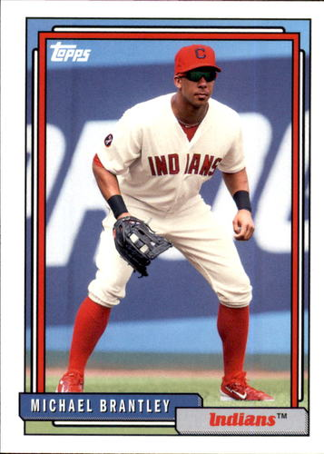 Photo of 2017 Topps Archives #285 Michael Brantley -- Indians post-season