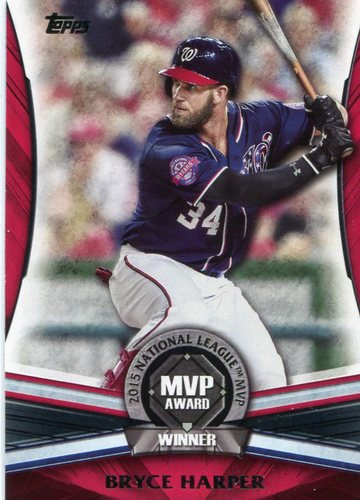 Photo of 2017 Topps Update MVP Award #MVP18 Bryce Harper