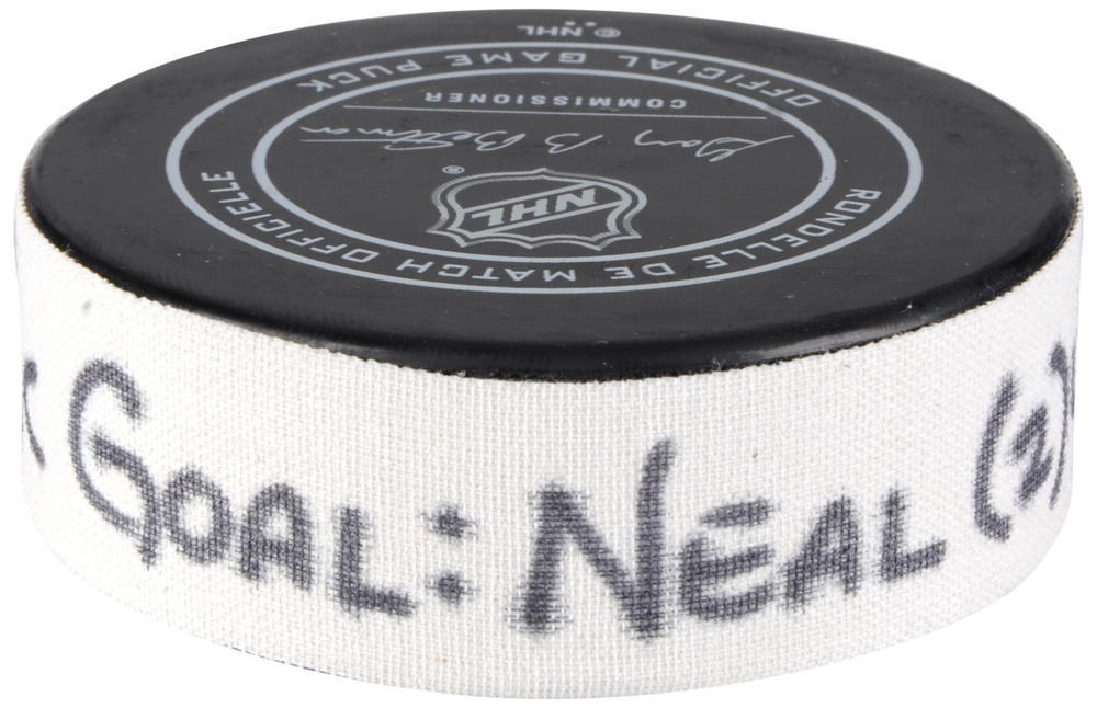James Neal Vegas Golden Knights Pacific Division 2018 NHL All-Star Game Goal Puck vs. Central Division - Second Goal of Two Goals Scored