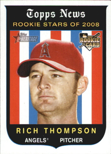 Photo of 2008 Topps Heritage #142 Rich Thompson RC
