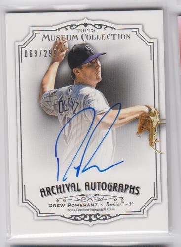 Photo of 2012 Topps Museum Collection Archival Autographs #DP2 Drew Pomeranz/299