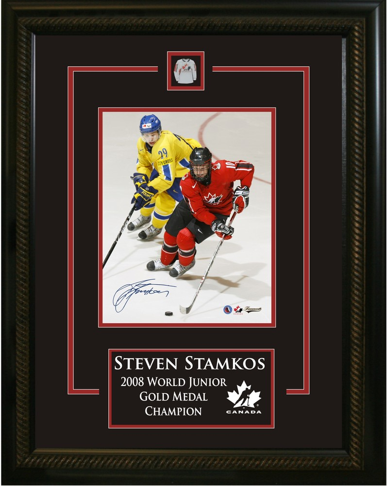 Steven Stamkos - Signed & Framed Etched Mat - 2008 World Juniors