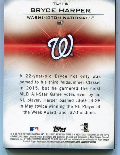 Photo of 2016 Topps Laser #TL16 Bryce Harper