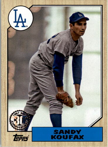 Photo of 2017 Topps '87 Topps #9 Sandy Koufax