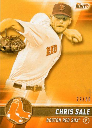 Photo of 2017 Topps Bunt Orange #44 Chris Sale 29/50 -- Red Sox post-season
