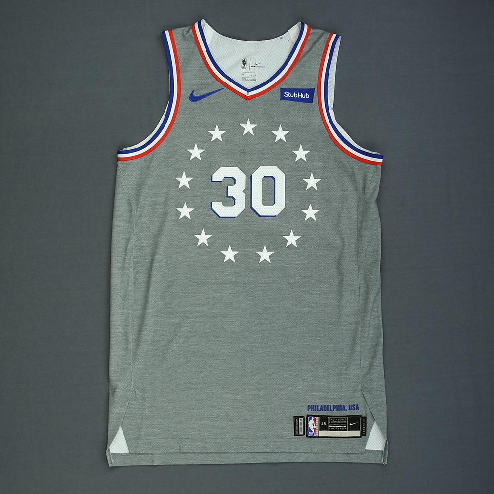 Furkan Korkmaz - Philadelphia 76ers - Game-Worn City Edition Jersey - Dressed, Did Not Play - 2018-19 Season