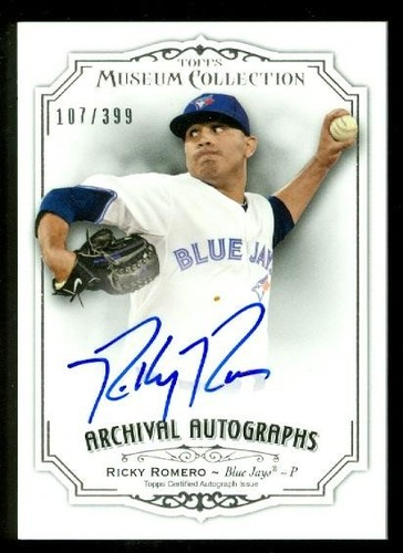 Photo of 2012 Topps Museum Collection Archival Autographs #RR2 Ricky Romero/399