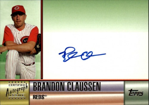 Photo of 2006 Topps Autographs Green #BC Brandon Claussen F