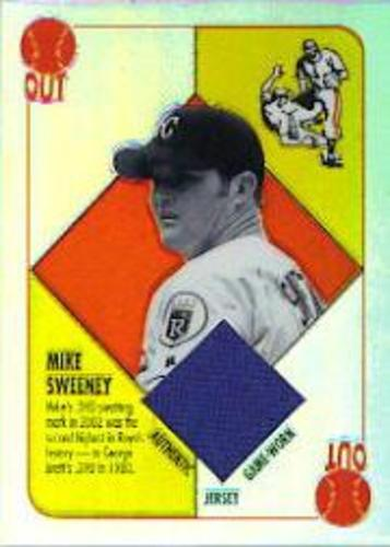Photo of 2003 Topps Chrome Red Backs Relics #MS Mike Sweeney Jsy