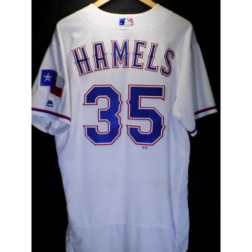 Photo of Game-Used Jersey - Cole Hamels 8/25/2016 14th Win of 2016