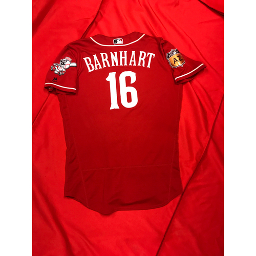 Photo of Tucker Barnhart -- Team-Issued Jersey -- 2017 Spring Training